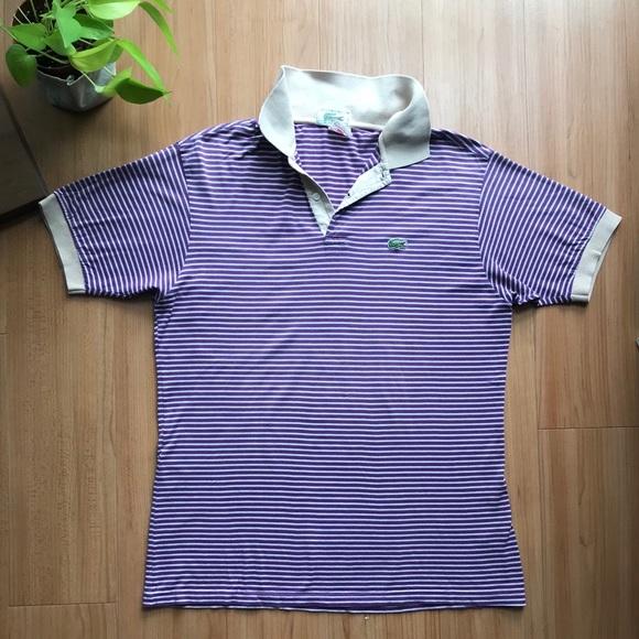 8c23cbd74a7 Lacoste Other - Men s Lacoste Vintage Purple Striped Polo